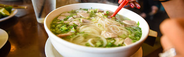 A Bowl of Pho in the Asian District of Oklahoma City