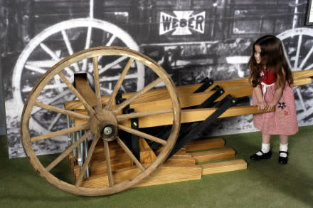 Farm Museum Girl on Wheel