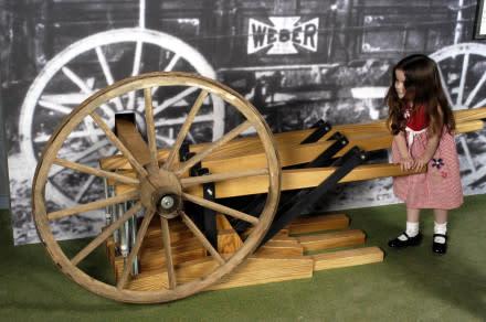 Farm Museum Girl on Wheel
