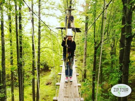 Canopy zip line tour at Empower Adventures