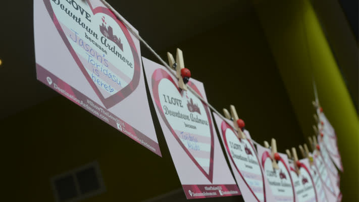 Customers are showing love to Ardmore businesses by filling out special Valentine's Day cards.