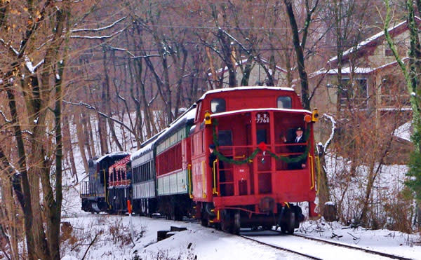 Colebrookdale Railroad is running their Snowflake Special trains leading up to New Year's Eve.