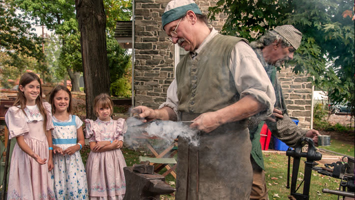 History comes alive at Pottsgrove Manor every Sunday in August.