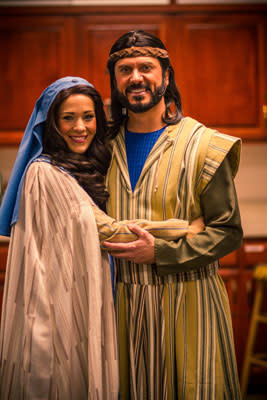 Julie Marie and Tom Sharpes as Mary and Joseph.