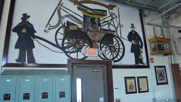 Five Saints has helped preserve the firehouse's history that was left behind when it closed.