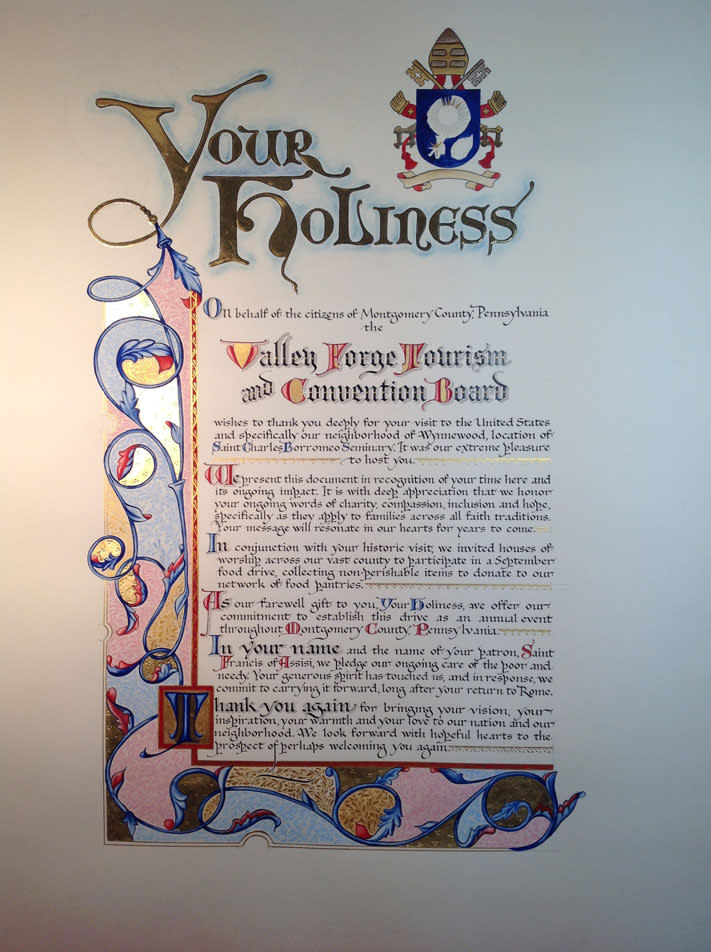 The finished scroll.