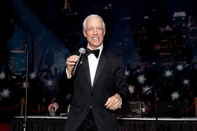 Jerry Blavat works the crowd on New Year's Eve