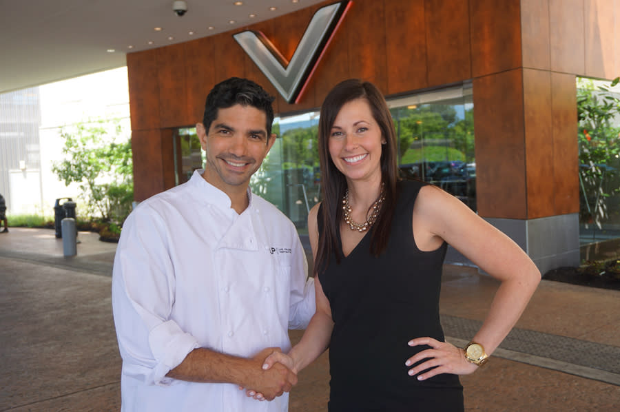 Chef Luke Palladino and VFCR Chief Marketing Officer Jennifer Galle