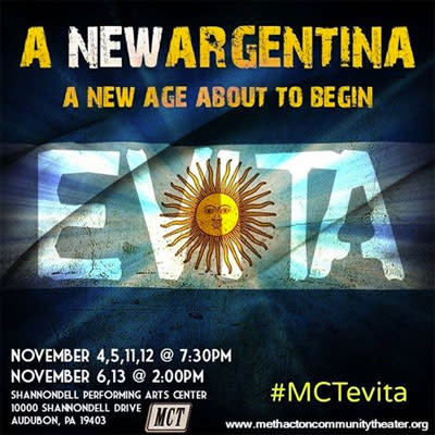 Methacton Community Theater's production of 'Evita' opens this weekend