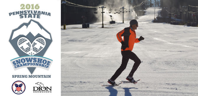 The fastest snowshoers in PA converge on Spring Mountain this Saturday.