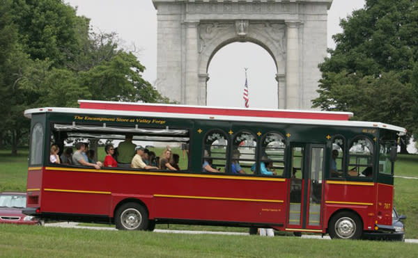 Labor Day Weekend signals the end of daily trolley tours at Valley Forge until next summer.
