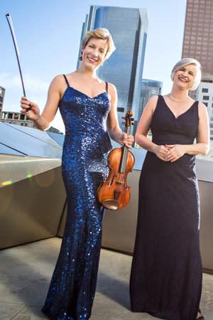 Elizabeth Pitcairn (left) with accompanist Louise Thomas. <i>Credit: Joy Strotz</i>