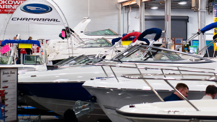 Over 100 fishing boats will be on display at the Greater Philadelphia Outdoor Sportshow
