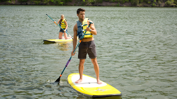 Stand-Up Paddleboarding at Green Lane Park is just one way to get on the water in Montco.