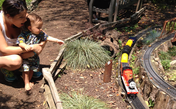 Thomas the Tank Engine and his friends will be on the tracks of the Garden Railway at Morris Arboretum this weekend.