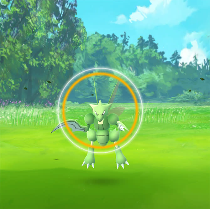 Don't Let Scyther Get Away!