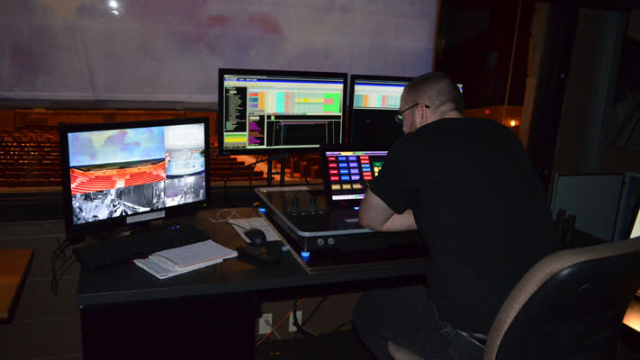 A peek into the production area at Sight & Sound