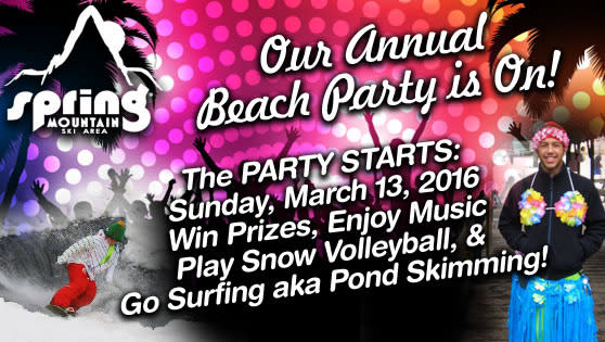 Don't miss Spring Mountain's season-end party this Sunday.