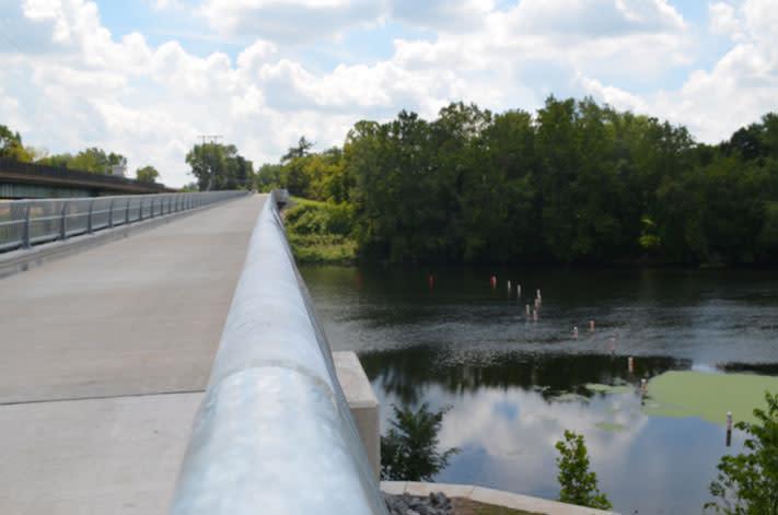 A safer way across: the New Sullivan's Bridge.