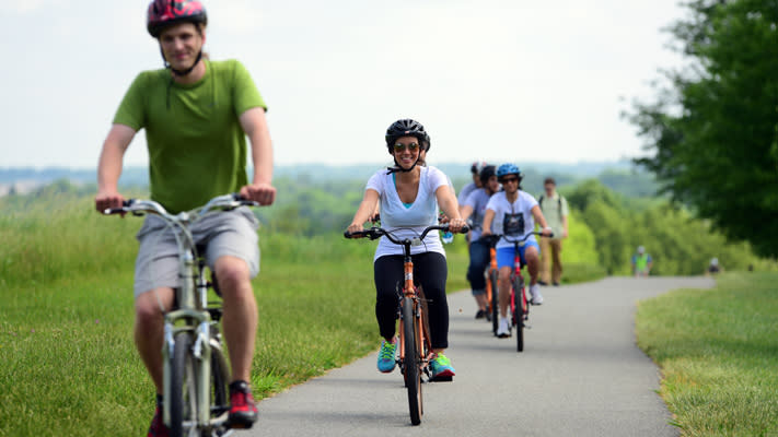 Hike, run or bike your way through Valley Forge Park.