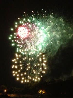 A spectacular fireworks display caps off Glenside's July 4.