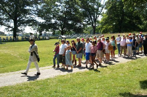 Join the Continental Army as it marches out of Valley Forge.