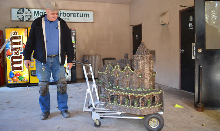Bruce Morrell keeps everything running smoothly on Morris Arboretum's Garden Railway.