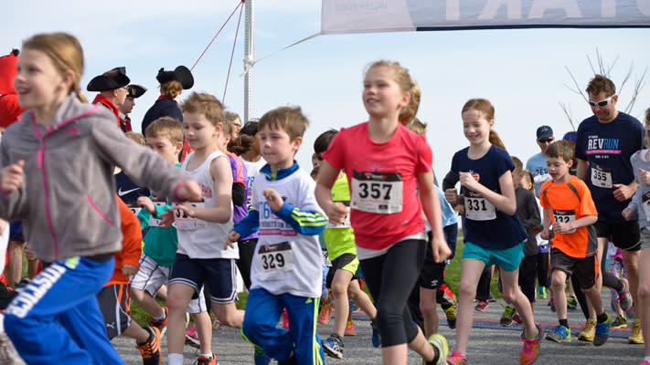 Tyler and Mason were among 73 youth in last year's Young Patriots Fun Run.