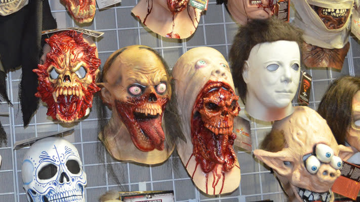 The store's masks have become a little more...detailed since the 1920s