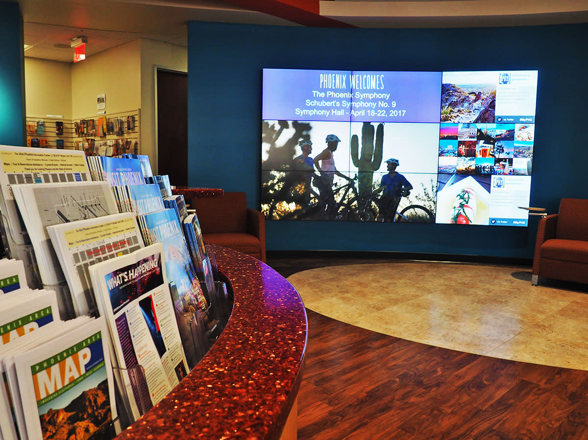 visitor center screen