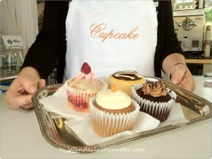 Cupcakes and Server 300x225 Eating our Way Around Roanoke, Virginia
