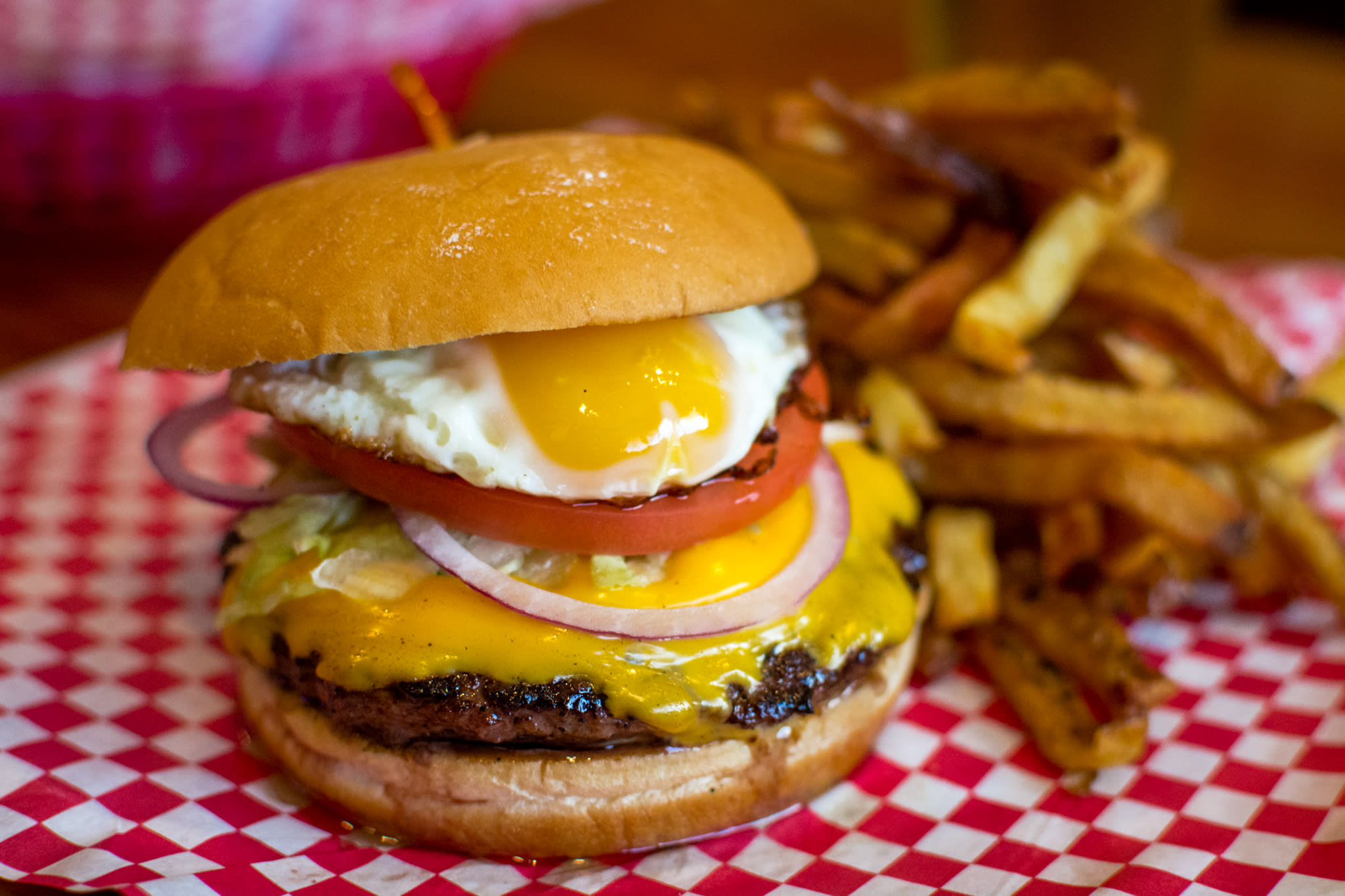 Pete's Hamburger with Fried Egg