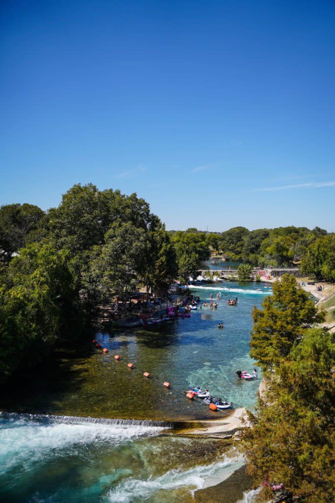 Floating the river in New Braunfels, Texas | Adored by Alex