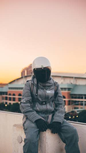 Person in a flight suit in Houston