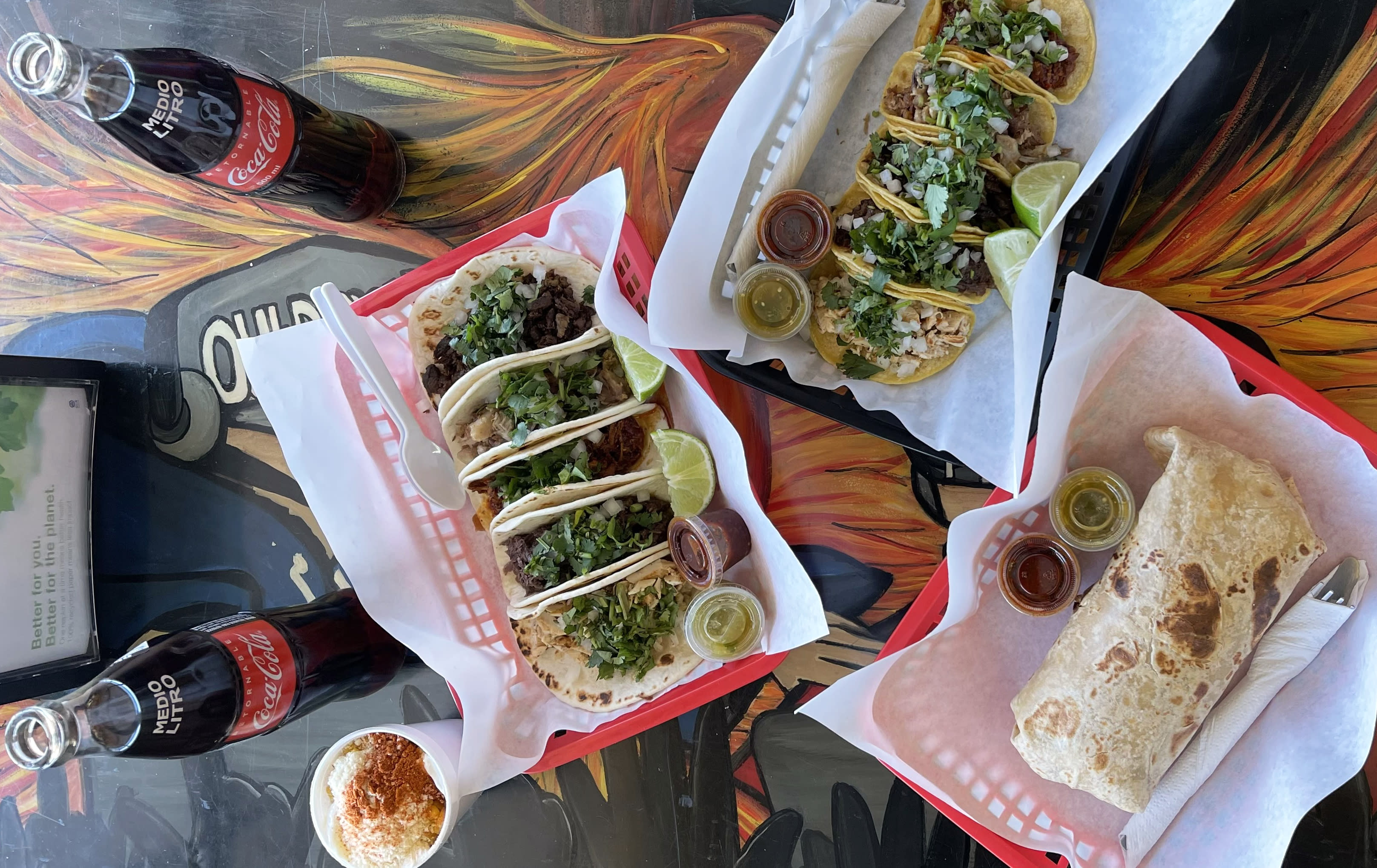 spread of Tacos la Bamba