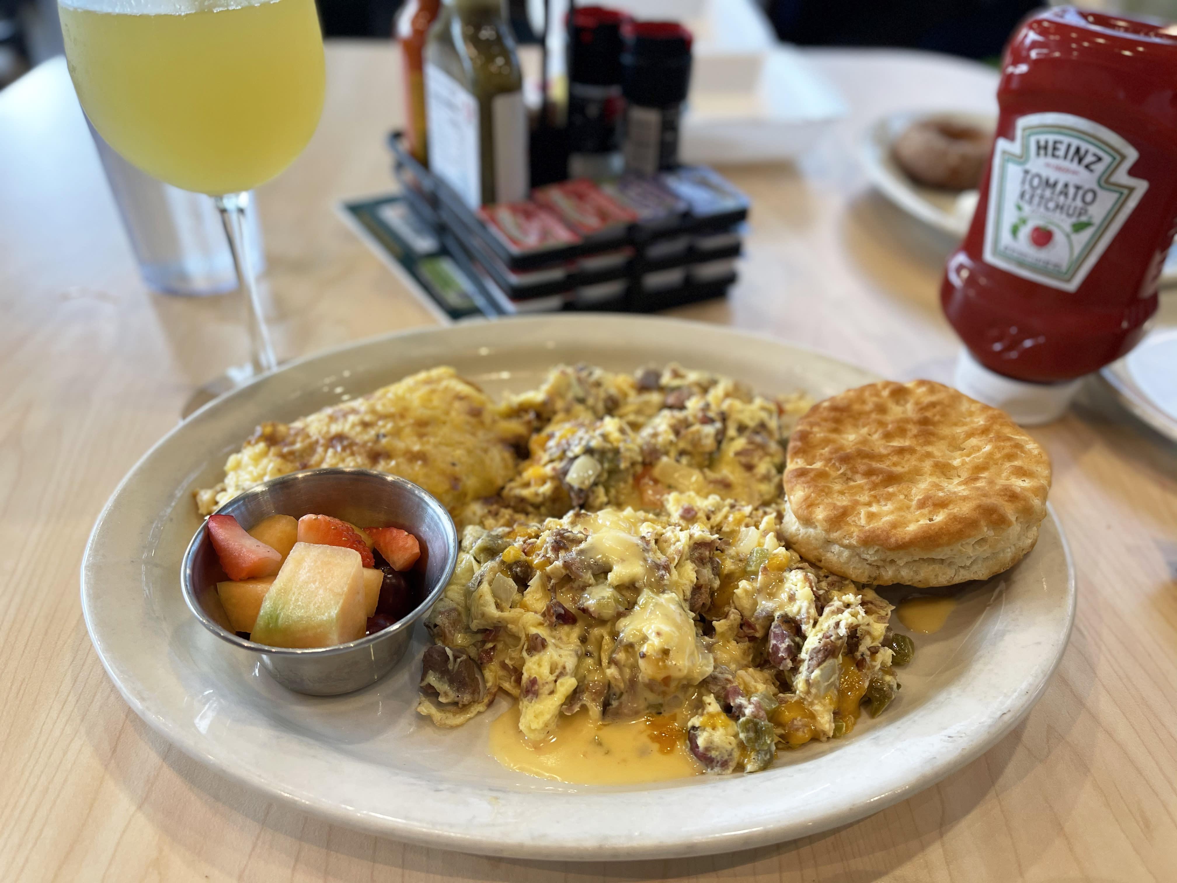 breakfast spread from toasted yolk