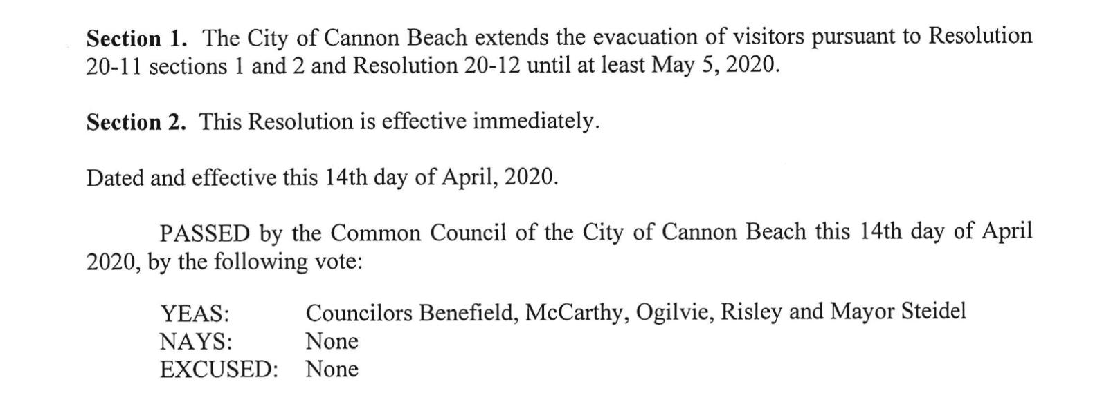 City Resolution 20-15