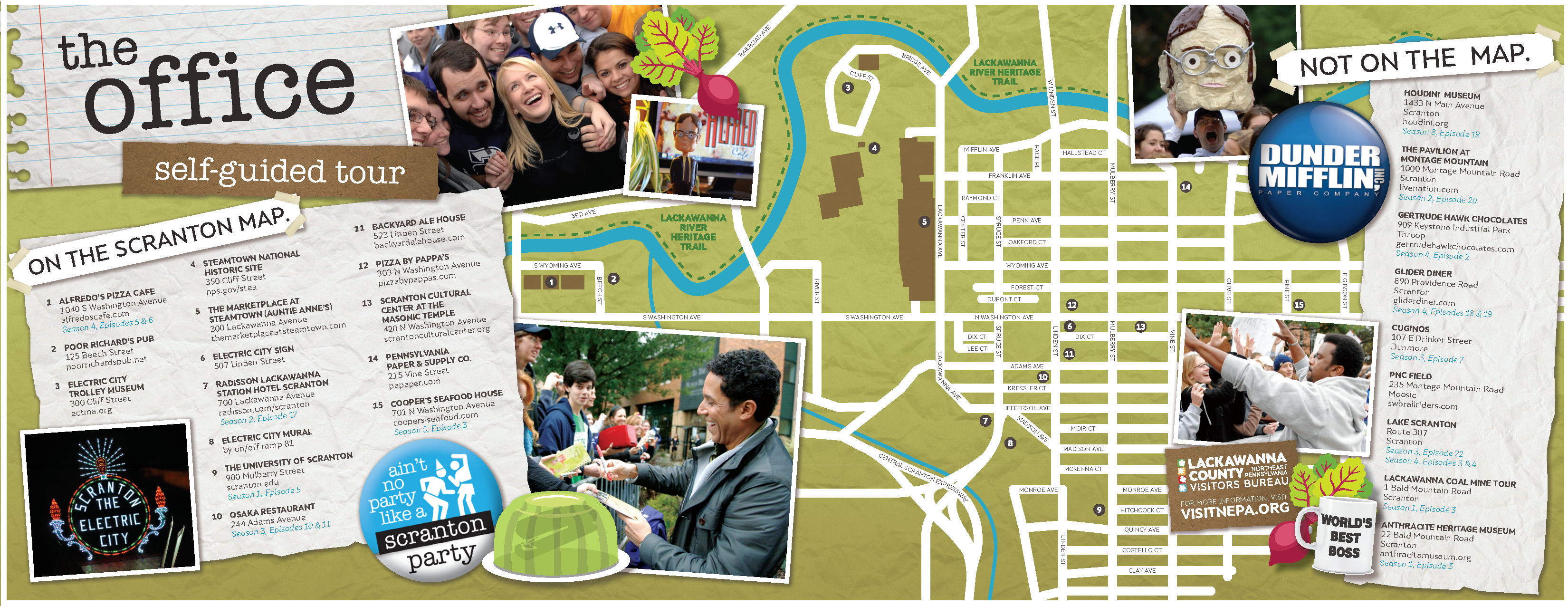 The Office Self-Guided Walking Tour Map