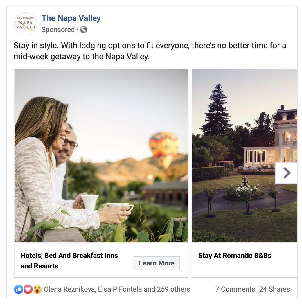 Paid Facebook ad