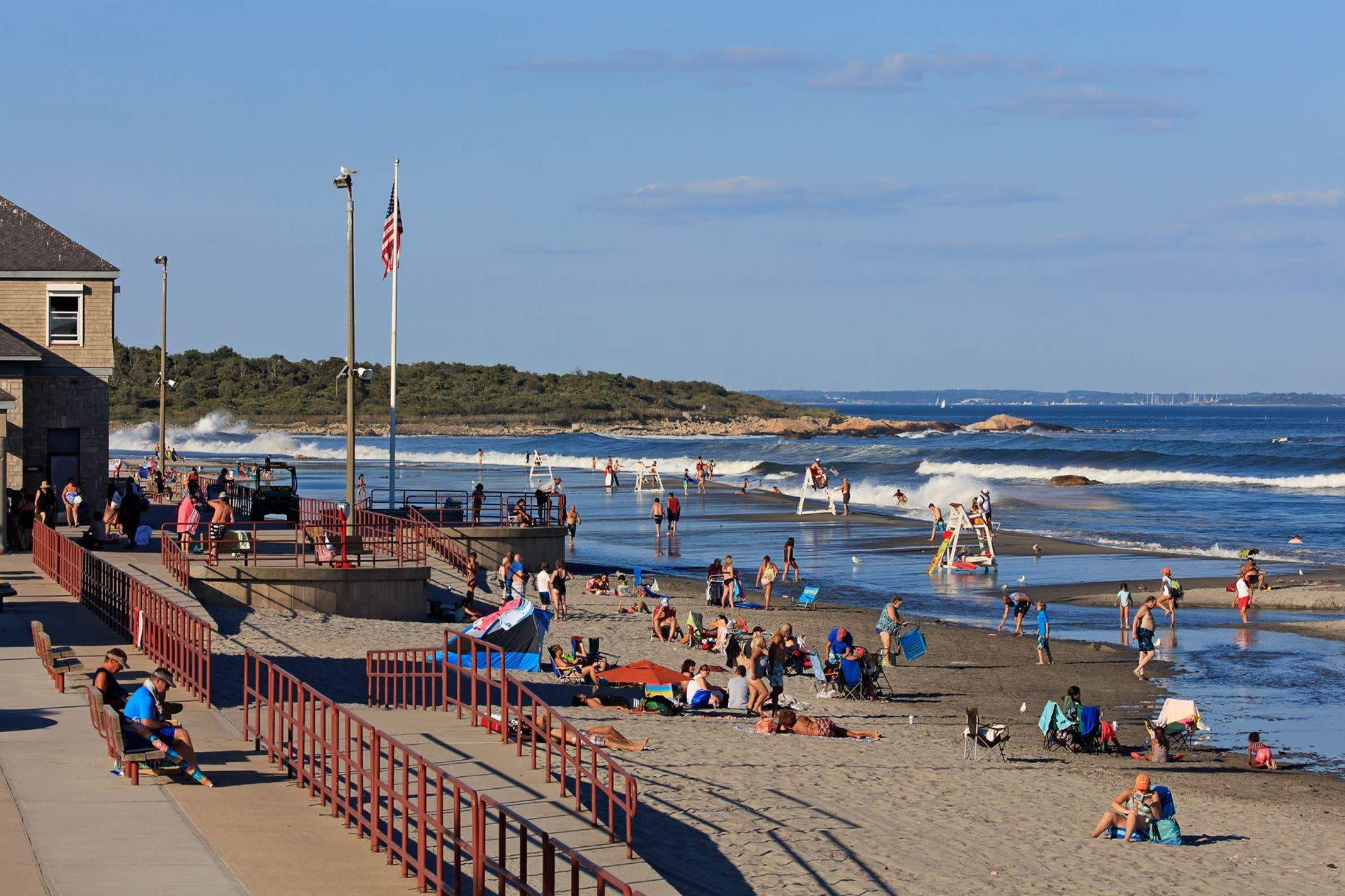 Narragansett Beach Elle Decor