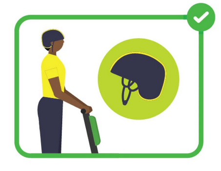 Lime Scooter Safety Helmet