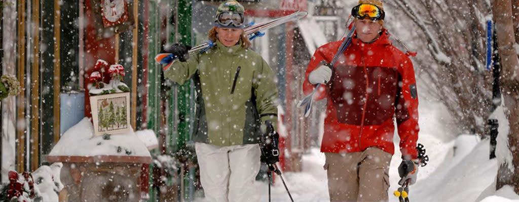 Winter Ski Couple