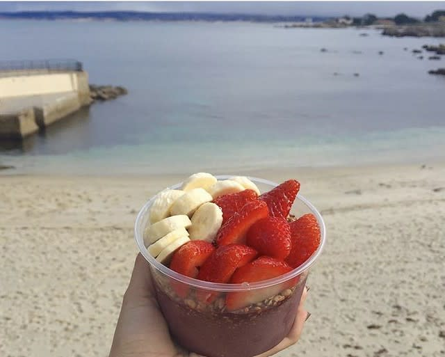 Acai Bowl at Lovers Point Beach Cafe