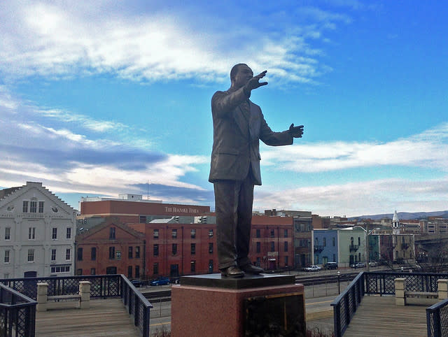 Martin Luther King Jr. Statue in Downtown Roanoke