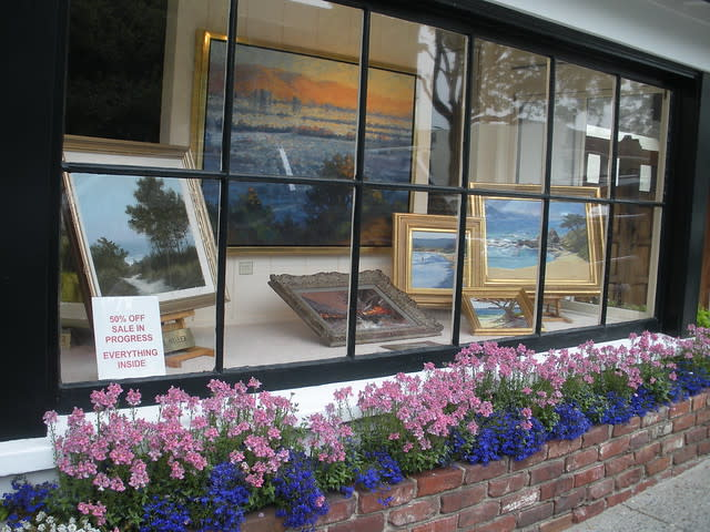 gallery window with flora