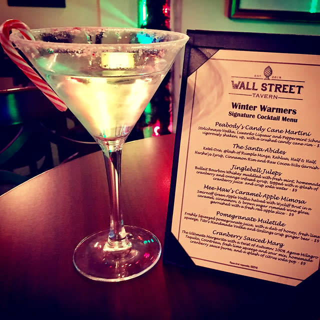 Wall Street Tavern - Candy Cane Martini