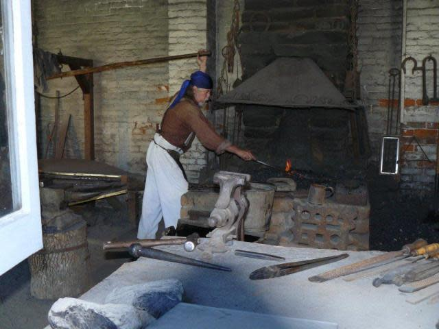 Blacksmith at Sutter's Fort