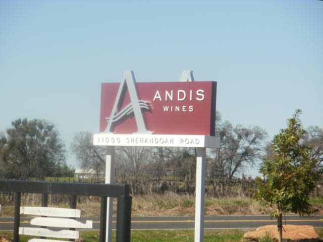 Andis Wines, our lunch stop, they serve beer!!