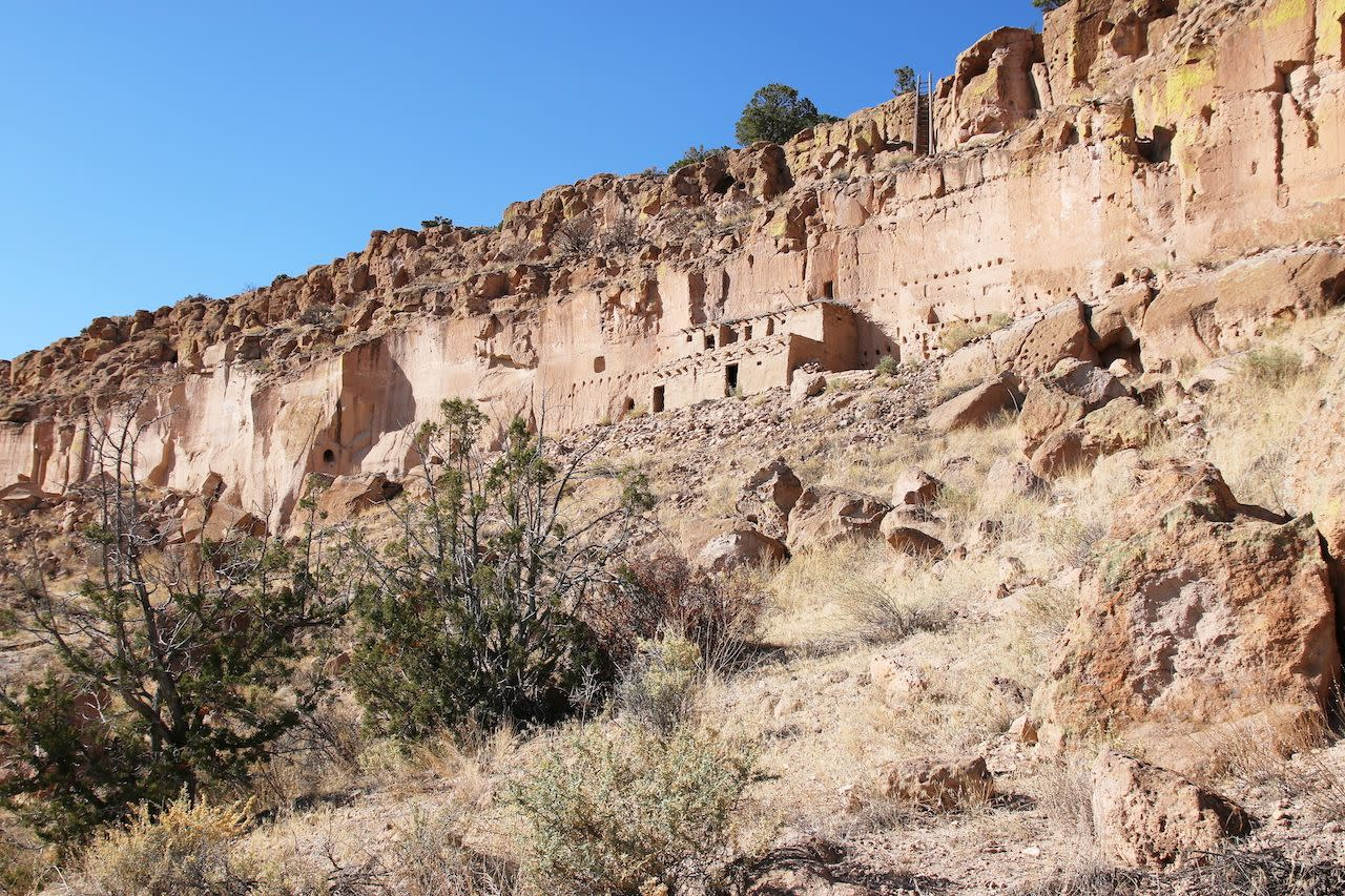 Panoramic view on the Puye Cliff Dwellings