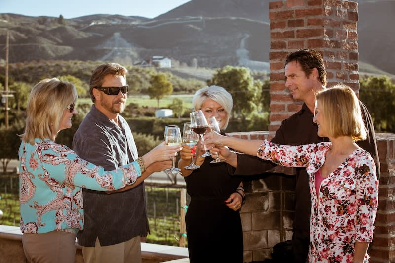 temecula valley wine country people drinking wine together